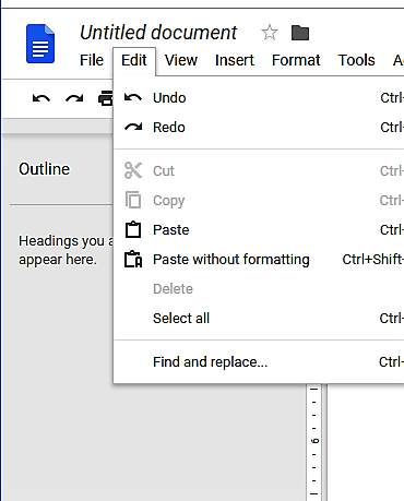 edit in Google docs