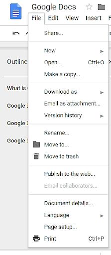 Google docs file