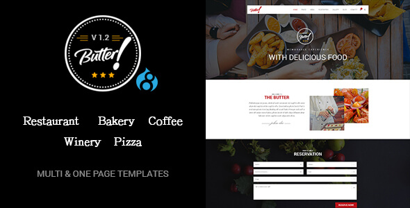 Butter WordPress Restaurant Theme