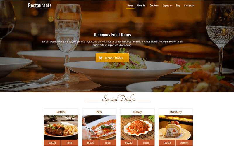 Restaurantz WordPress Restaurant Theme