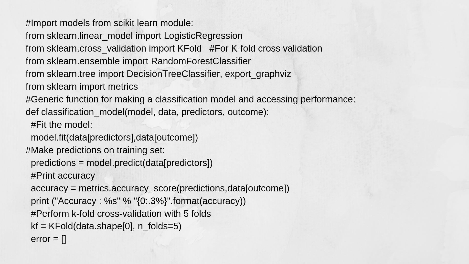 Model Predict Python