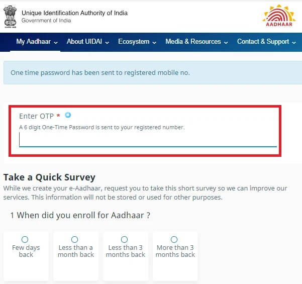 Aadhar Card Download By Aadhaar Number Only
