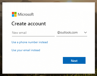 Create a new email address
