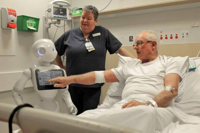 Digital nurse work in a hospital