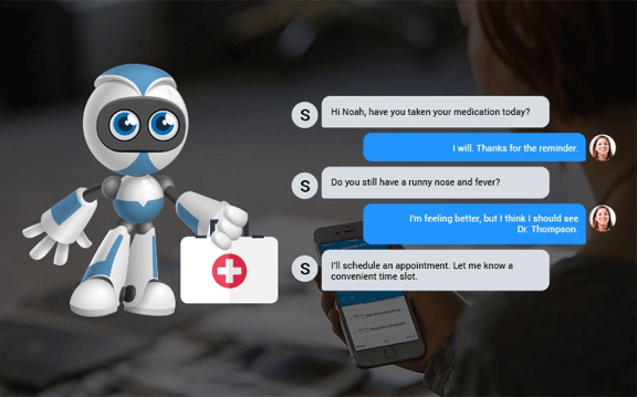 A chatbot use in Healthcare